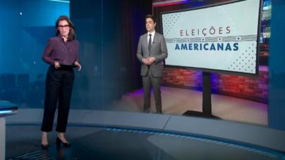 TV Globo interactive US Elections storytelling.